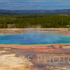 Overlooking the Grand Prismatic Spring. Biggest thermal feature in YP, 200 ft across!