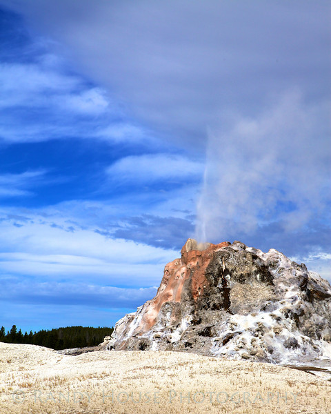 A geyser showing a bit of action.