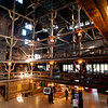 Inside Old Faithful lodge