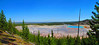 Here's a panoramic view of the Midway Geyser Basin.