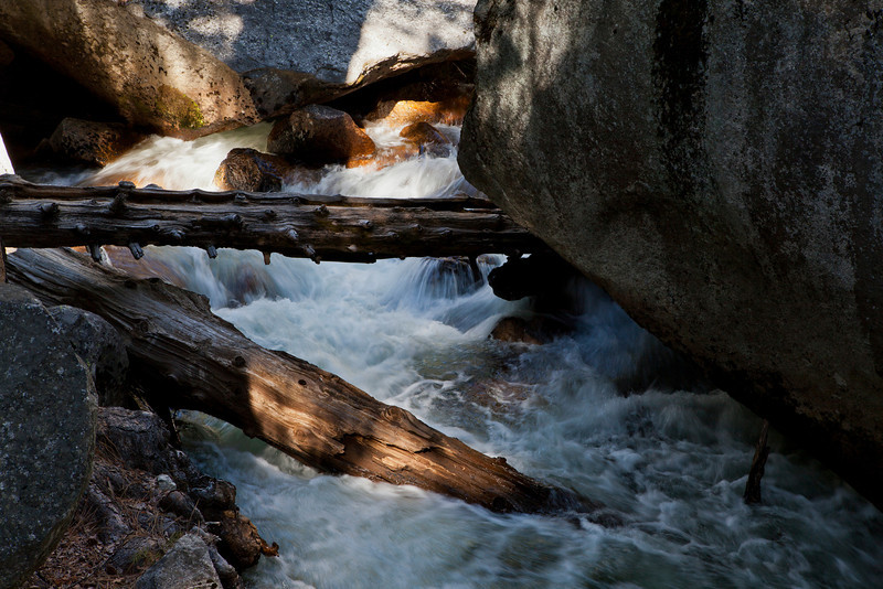 Mountain Stream with logs