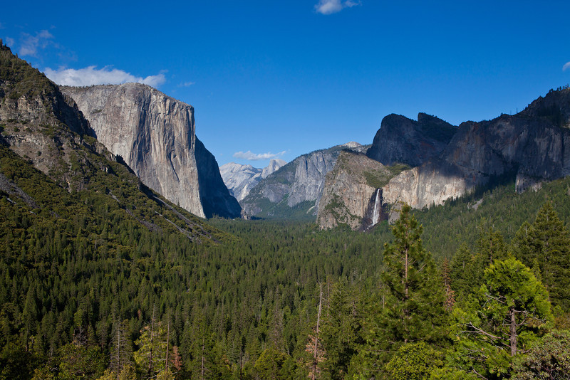 Yosemite Valley with Bridal Veil Falls