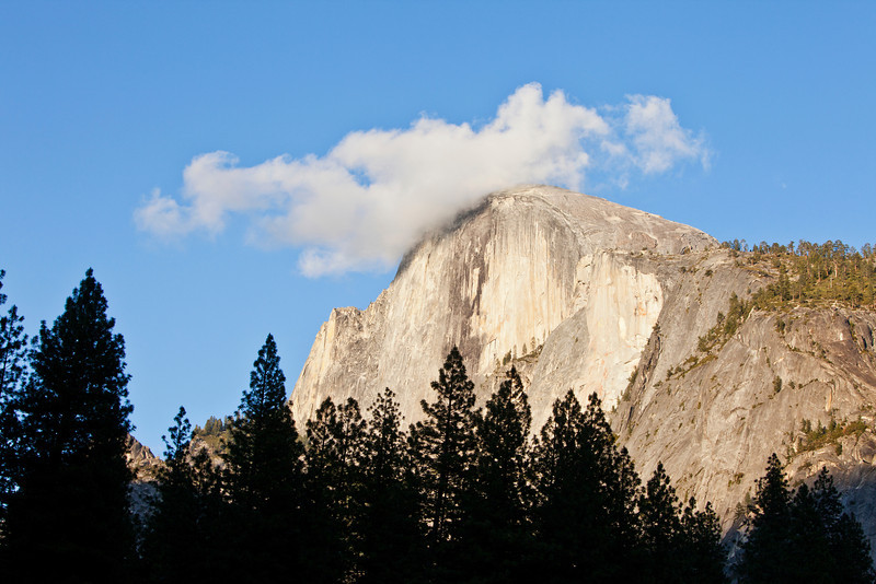 Half Dome with Cloud