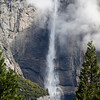 Yosemite Falls with Clouds
