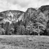 Yosemite Falls in B&W