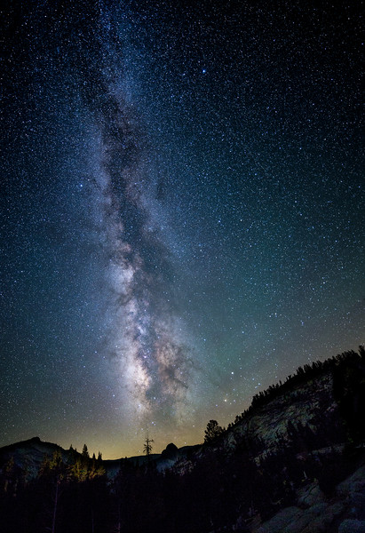 Milky Way over Halfdome from Olmsted Point