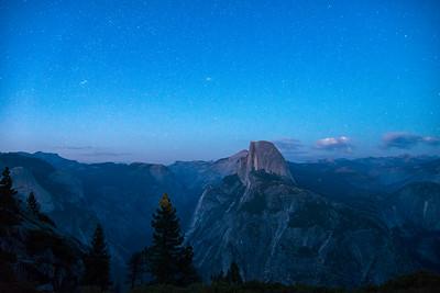 Glacier Point Half Dome Stars - Yosemite-2