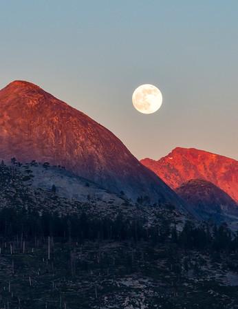 Mount Starr King Sunset Supermoon - Yosemite-2