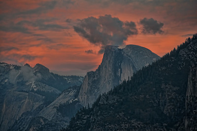 half-dome-sunset