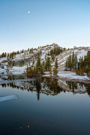 Upper Cathedral Lake Tressider Peak Dawn - Yosemite
