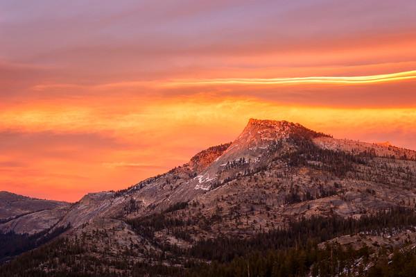 Tenaya Peak Sunset - Yosemite