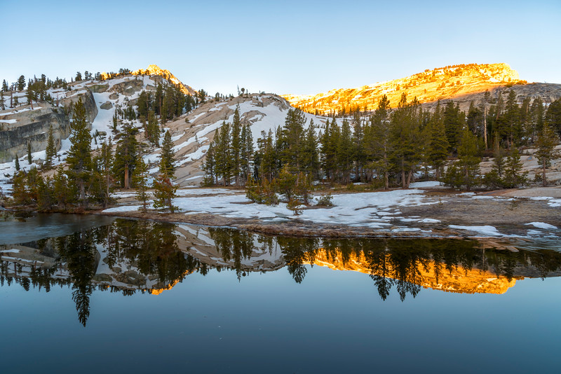 Upper Cathedral Lake Tressider Peak Sunrise - Yosemite-2
