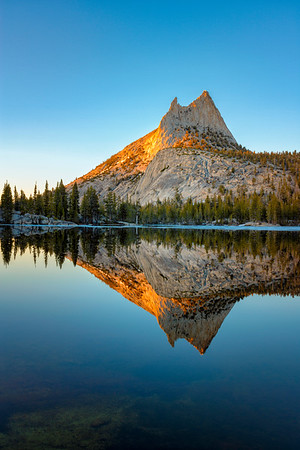 Cathedral Peak Sunset Reflection - Yosemite-11