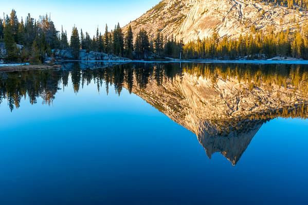 Cathedral Peak Sunset Reflection - Yosemite-5