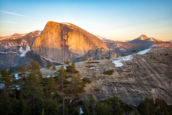 Half Dome and North Dome Sunset - Yosemite-6