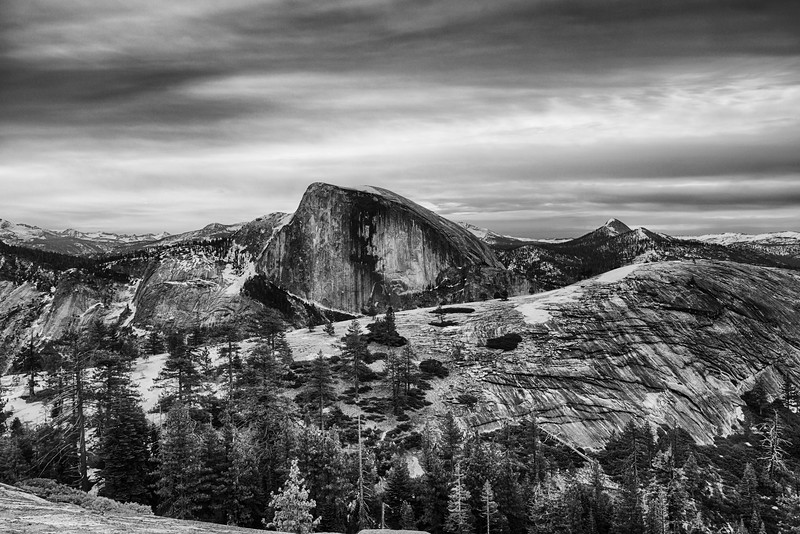 Half Dome and North Dome dawn - Yosemite-2