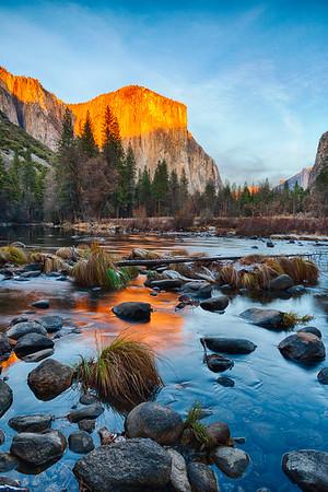 Gates of the Valley Sunset - Yosemite-6