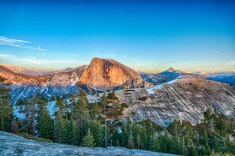 Half Dome and North Dome Sunset - Yosemite-4