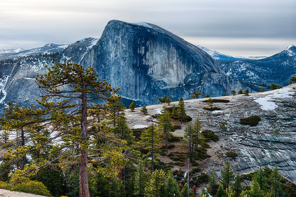 Half Dome and North Dome - Yosemite
