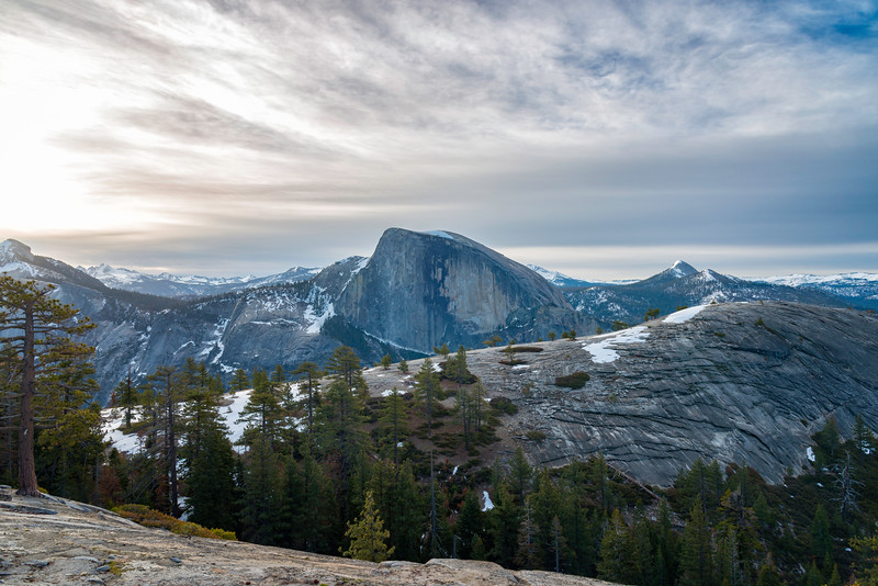 Half Dome and North Dome sunrise - Yosemite-2
