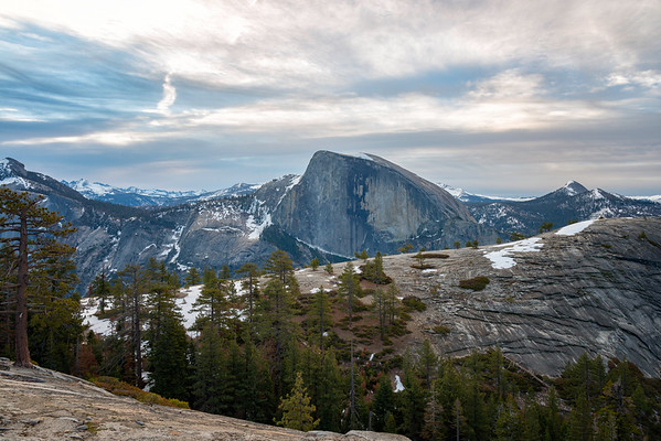 Half Dome and North Dome sunrise - Yosemite