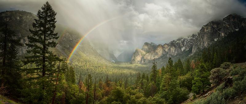 The Storm 4 Rainbow Panorama