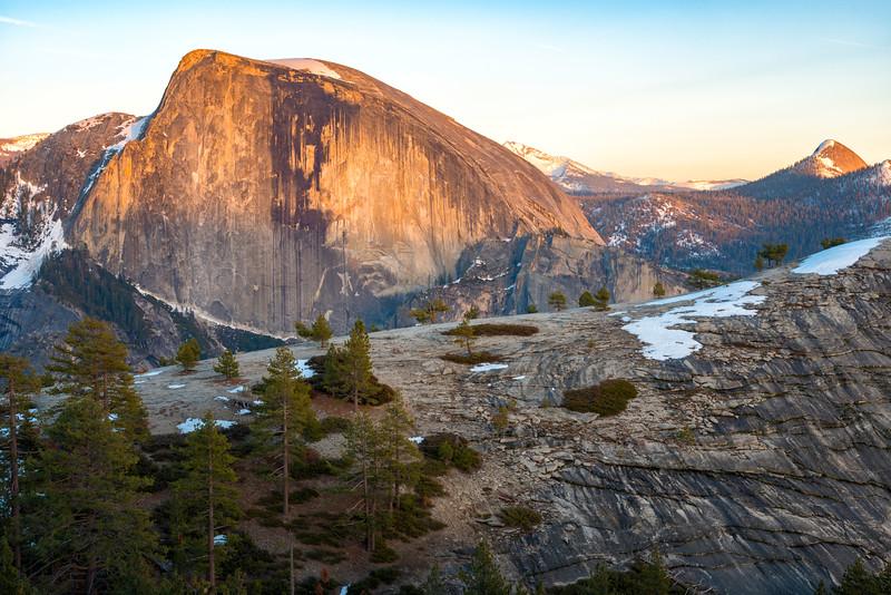 Half Dome and North Dome Sunset - Yosemite-8