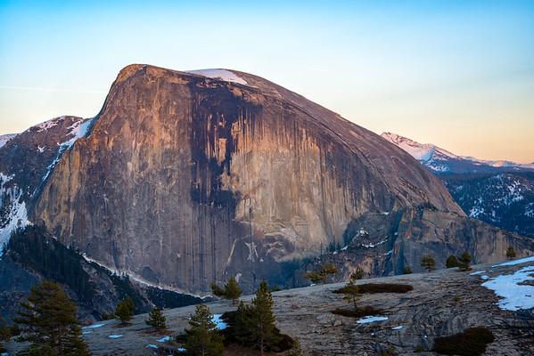 Half Dome and North Dome Sunset - Yosemite-9