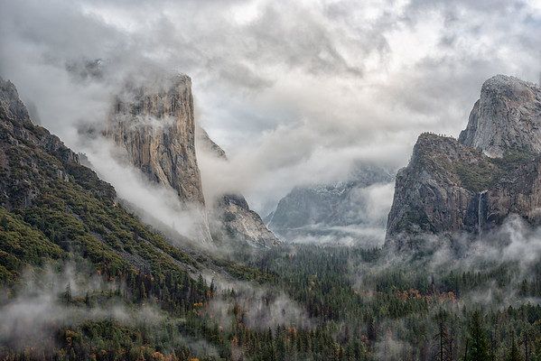 Tunnel View Thanksgiving Storm - Yosemite-2