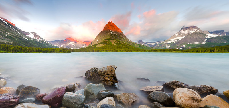 Dawn at Swiftcurrent Lake<br /> Glacier National Park, Montana