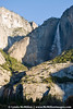 Frost clings to the granite walls at the edge of Yosemite Falls.