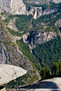 On a precipice at Glacier Point looking at Vernal Fall and Nevada Falls, Yosemite NP.