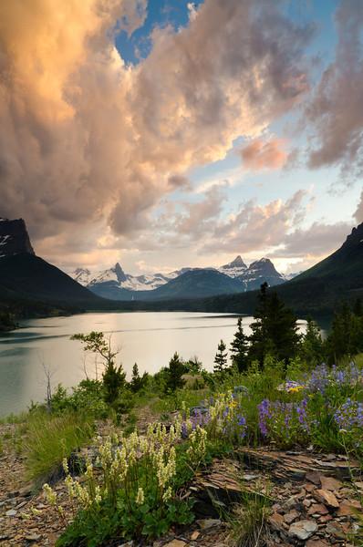 St. Mary's Sunset<br /> Glacier National Park, Montana