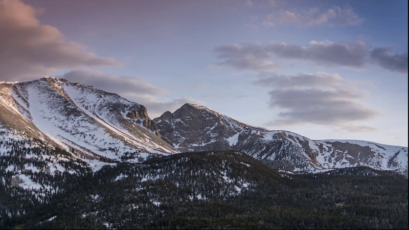 Wheeler Peak at Great Basin National Park - Day to Night