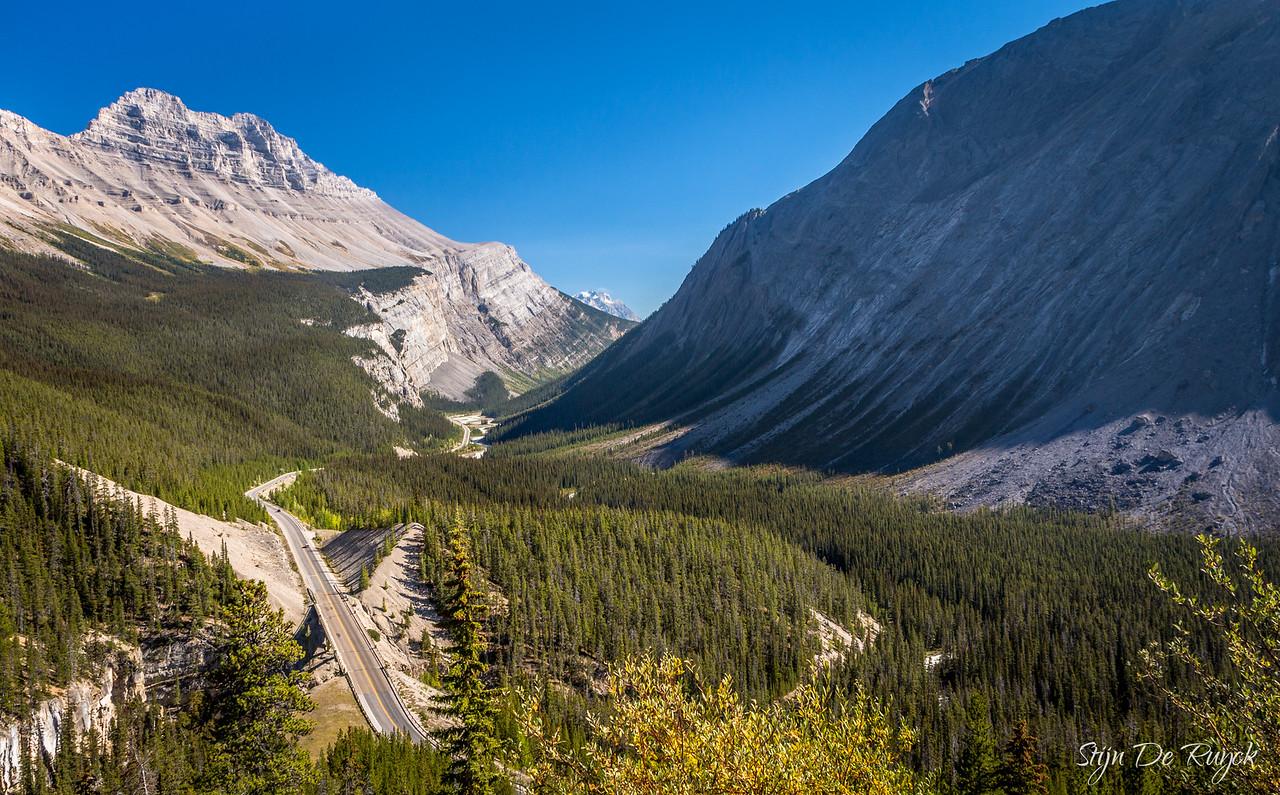 Cirrus Mountain from Sunwapta Pass on the Icefields Parkway, Banff National Park, Alberta