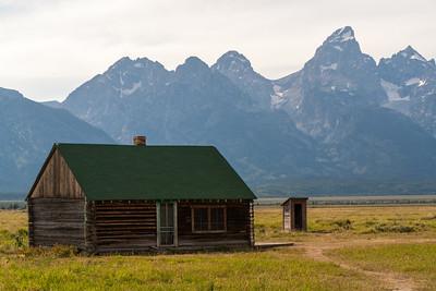 Teton Range from Mormon Row Historic District, Grand Teton National Park