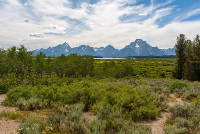 Teton Range from Willow Flats Overlook, Grand Teton National Park