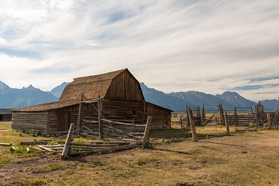 John Moulton Barn & Teton Range, Mormon Row Historic District, Grand Teton National Park