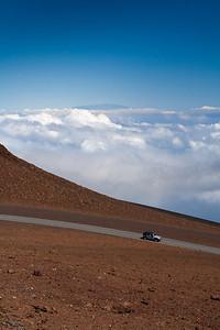 View all the way to Mauna Kea on the Big Island, from Pu'u 'ula'ula summit at Haleakala National Park