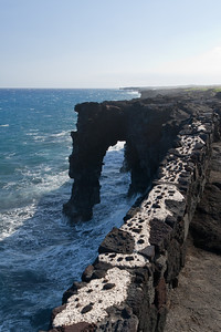 Holei Sea Arch near the end of the Chain of Craters road