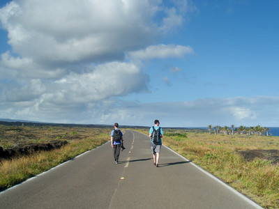 Near the end of the Chain of Craters Road