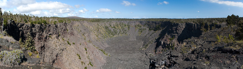 Another crater along the Chain of Craters Road at Hawaii Volcanoes National Park