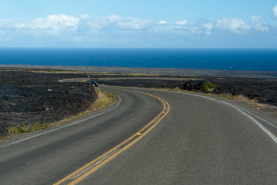 Driving the Chain of Craters Road down to the coast