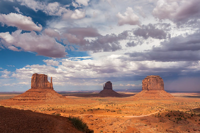 The Mittens & Merrick Butte, Monument Valley, Arizona