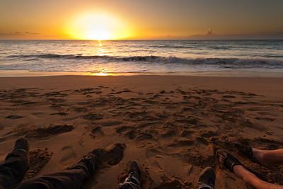 Polihale State Park sunset