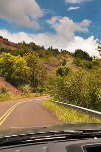 Hwy 550 through Waimea Canyon State Park.