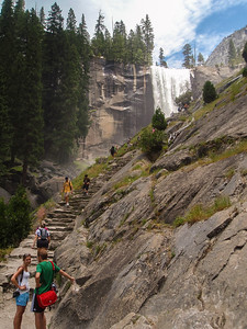 The Mist Trail to Vernal Falls, Yosemite National Park