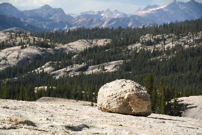 Glacial boulders on Pothole Dome, Yosemite National Park