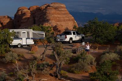 Devil's Garden campground in Arches National Park, Utah.