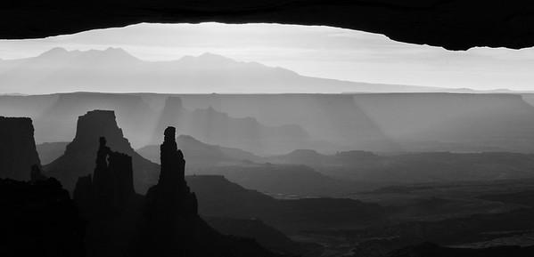 """""""Moab Shadows""""  Mesa Arch at Canyonlands National Park, outside of Moab, Utah."""